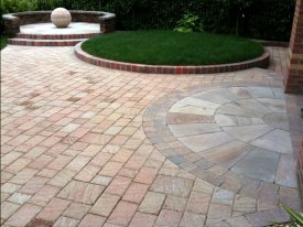 AFTER THIS PREVIOUSLY PLAIN FLAT SPACE IS BROUGHT TO LIFE WITH THE USE OF FLOWING CIRCLES AND VARIOUS LEVELS WARRINGTON