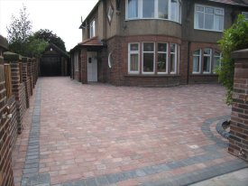 AFTER LARGE BLOCK PAVED DRIVEWAY BIRKENHEAD