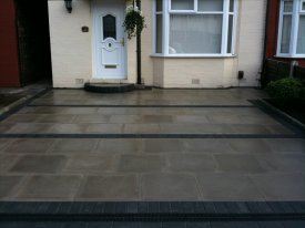 AFTER MARSHALLS UTILITY PAVING USING A CHARCOAL BLOCK BORDER AND SEAMS FOR A DURABLE, COST EFFECTIVE AND SMART DRIVEWAY ALLERTON