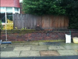 BEFORE REMOVAL OF WALL TO CREATE DRIVEWAY GARSTON