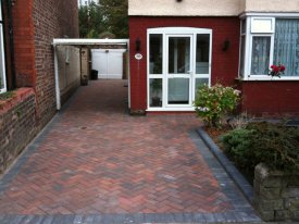 AFTER MARSHALLS DRIVELINE IN BRINDLE WITH CHARCOAL BORDERED EDGE FINISH LIFTS THE WHOLE APPEARANCE OF THIS HOME GARSTON