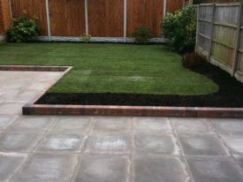AFTER MARSHALLS RICHMOND UTILITY PAVING AND A RE LEVELLED LAWN USING CLEAN LINES GIVES FUNCTION AND ORDER BACK TO THIS GARDEN SPACE AIGBURTH